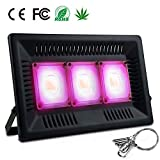 Bozily Led Plant Grow Light - 450W Full Spectrum Cob Growing Lamps - Ultra Thin Waterproof Plant Light for Outdoor/Indoor Vegetable Flower Fruit Plants(No Plug Including)