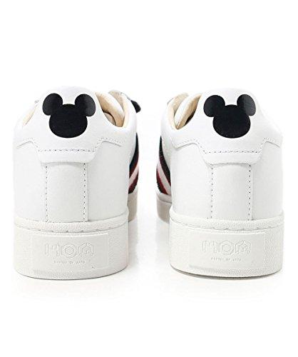 Des Moa Formateurs Mickey Femmes Arts Maître Blanc Patchs Blanc Disney nFx171