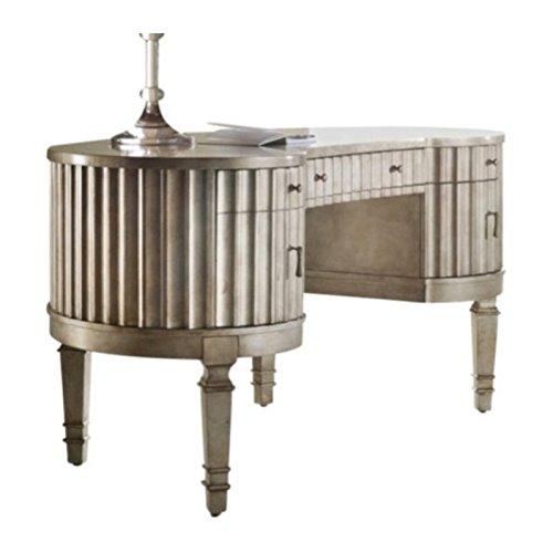 Hooker Furniture 638-10006 Melange Fluted Kidney Desk, Silver