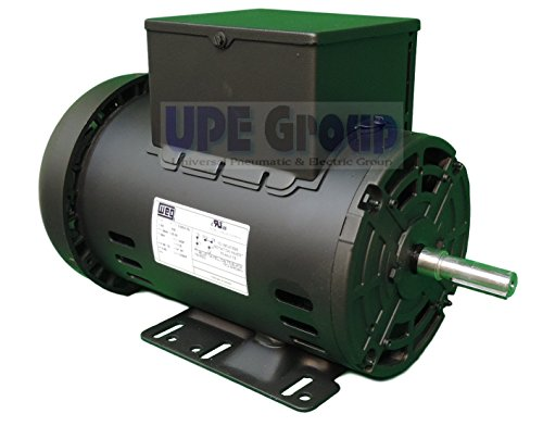 5 HP SPL Compressor Motor Electric 56 Frame Single Phase 3455 rpm, 5/8'' Shaft by WEG