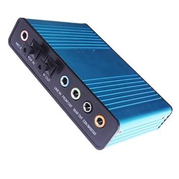 Tarjeta de sonido externa 5.1 Surround USB Powered Laptop PC ...