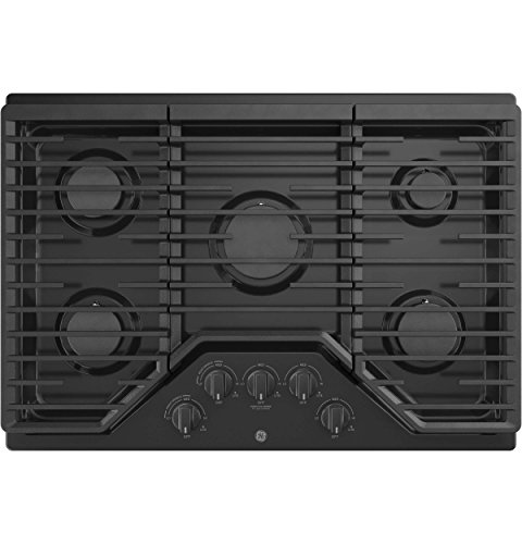 - GE JGP5030DLBB 30 Inch Gas Cooktop with Power Boil, Simmer, Continuous Grates, 5 Sealed Burners and ADA Compliant