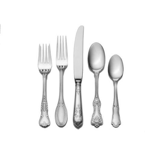 Wallace Hotel 77-Piece Stainless Steel Flatware Set, Service for 12
