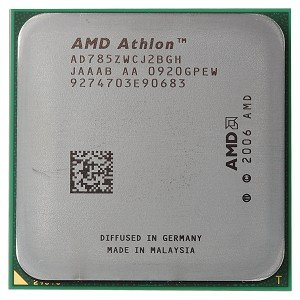 - AMD Athlon X2 7850 2.8GHz 2x512KB Socket AM2+ Dual-Core CPU