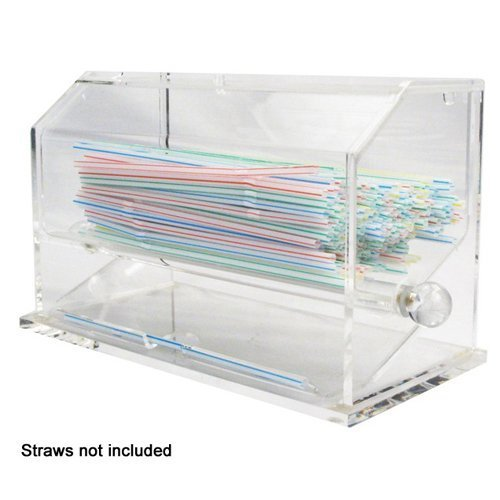 Winco ACSD-712 Acrylic Straw Dispenser - Set of 3 by Winco