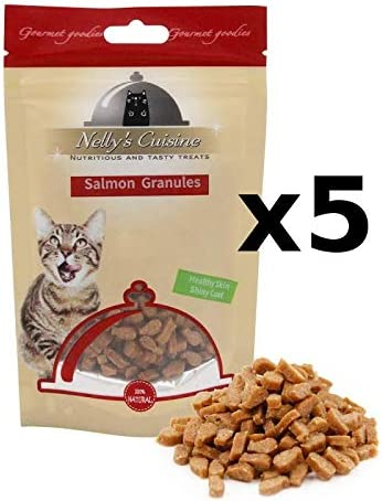 Nellys Cuisine - Salmon Granules Snack para Gatos Bolsa 65 gr ...