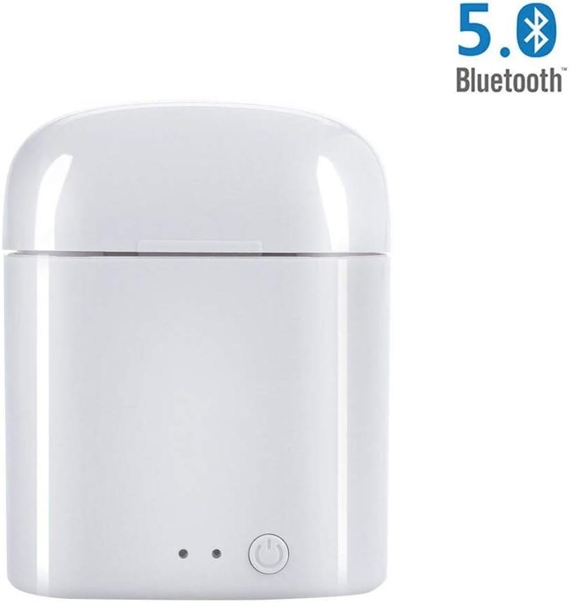 KLACK® - Auriculares Bluetooth con Micrófono V5.0 Auriculares Inalámbricos, Deportivos [Universales] Compatible Todos Teléfonos Original TWS