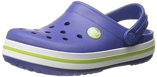 - crocs Crocband Kids Clog (Toddler/Little Kid), Cerulean Blue/Volt Green, 4-5 M US Toddler