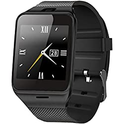 ASOON Smart Watch Bluetooth Smart Cell Phone Wrist Watch Support SIM Card for Android Smartphones, Samsung, Galaxy Note, Nexus, HTC, Sony
