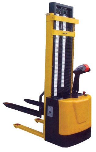 Vestil-S-62-FA-Powered-Drive-and-Powered-Lift-Stacker-with-Fixed-Forks-and-Adjustable-Support-Legs-42-Length-x-26-34-Width-Fork-2000-lbs-Capacity