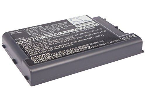 Cameron Sino Li-ion 14.80V 4400mAh / 65.12Wh Replacement Battery Compatible With Acer 4UR18650F-2-QC-ZG1/SQU-202/BT.FR103.001/916-2750, Fits Acer TravelMate 802LMi/Quanta Z500/TravelMate 8004LM