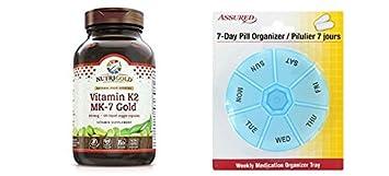 La vitamina K2 MK-7, 100 mcg, 120 cápsulas con organizador de píldora