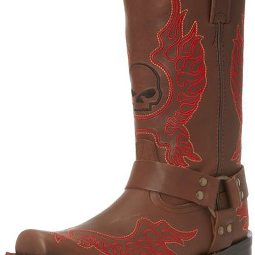 Harley-Davidson Men's Slayton Motorcycle Boot,Brown,10 M US - Harley Davidson Western Boots Men