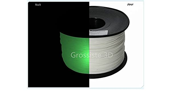 Grossiste3D® - Filamento en 3D, Color Verde fosforescente, ABS, 1 ...
