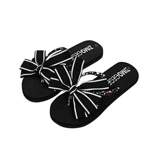 Inkach Womens Slippers Sandalen | Dames Zomer Platte Sandalen | Slippers Strand Badslipper Zwart