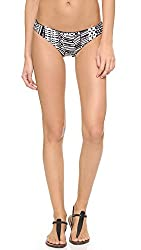 LSpace Women's Ivory Coast Barracuda Reversible Bikini Bottoms, Black, X-Small