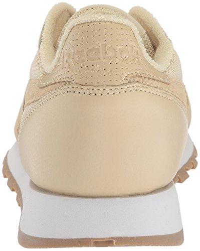 Sneaker Estl Reebok Uomo Cl In Pelle Paglia / Bianco