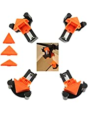 Angle Clamps for Wood, EDIONS 12PCS Angle Clamps 60/90/120 Degree Clamp Adjustable Angle Fixing Clips Picture Frame Corner Clamp Positioning Tool Suitable for Woodworking, Drilling and Cabinet Making