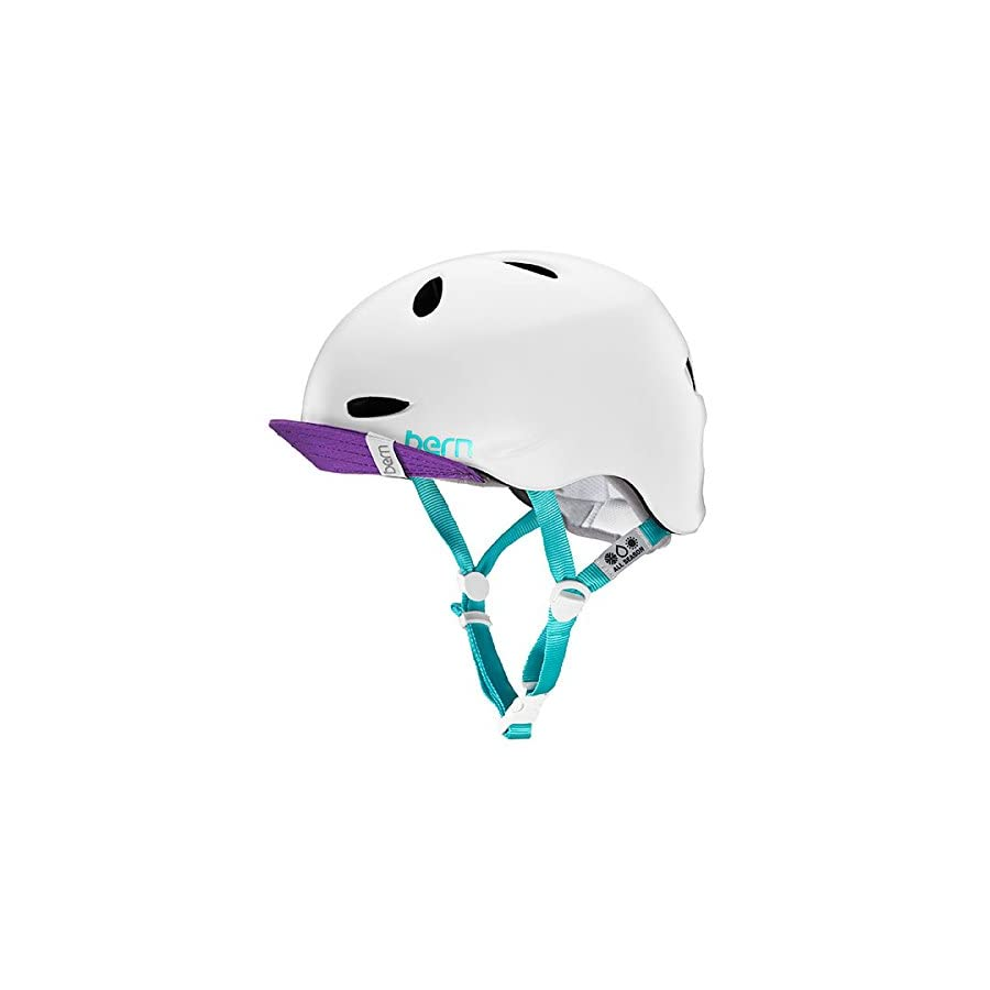 Bern Unlimited Berkeley Summer Multi Helmet with Visor, Satin White, Medium/Large