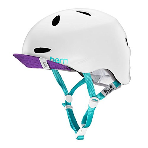 Bern Unlimited Berkeley Summer Multi Helmet with Visor, Satin White, X Small/Small