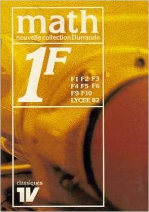 Livres gratuits en ligne Mathématiques 1F pdf, epub