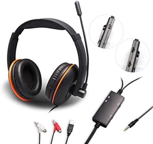HNSYDS ゲーミングヘッドフォンシンプルな黒のヘッドマウント 快適な通気性のイヤークッション ゲーミングヘッドセット