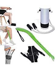 3 in 1 Sock Aid-sock remover Kit & Pants Assist by Fanwer, New Upgrade Sock Helper-Easy On & Easy Off Tools for Seniors, Disabled, Pregnant or Limited Mobility, Pain Free, No Bending