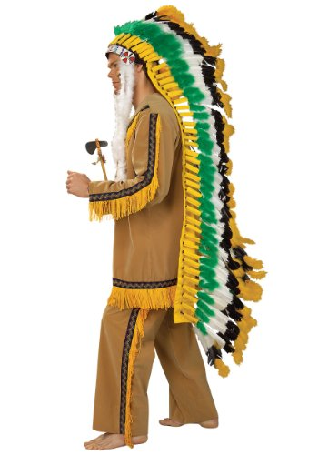 [Rubie's Costume Co Men's Full Native American Chief Headdress, Multi, One Size] (Male Indian Chief Costume)