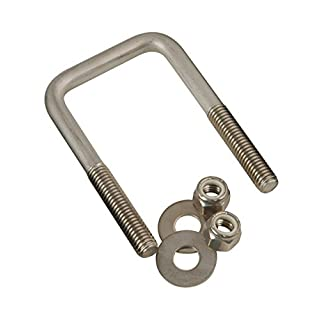 """CE Smith Trailer Stainless Steel Square U-Bolt with Washers & Nuts, 7/16"""" x 3-1/8"""" x 4""""- Replacement Parts and Accessories for Your Ski Boat, Fishing Boat or Sailboat Trailer"""