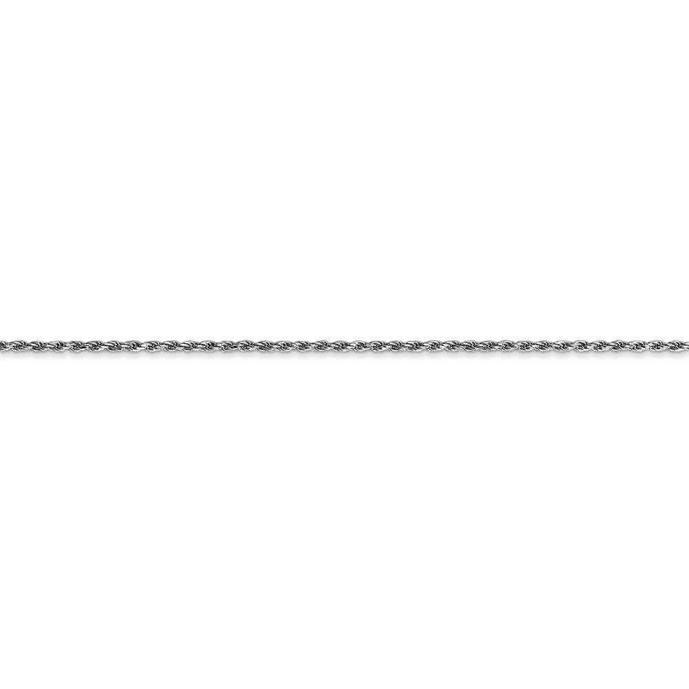 14kt White Gold 1.15mm Machine-made Rope Chain; 18 inch