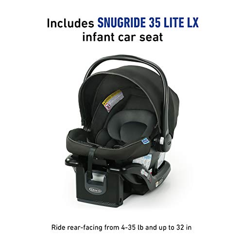 41kSW8zMVJL - Graco Modes Element Travel System, Includes Baby Stroller With Reversible Seat, Extra Storage, Child Tray And SnugRide 35 Lite LX Infant Car Seat, Canter