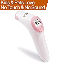 BABY MATE Dual Mode Forehead Digital Thermometer for Adults, Kids, Baby, Pets - Exergen Temporal Artery Thermometer No Contact Thermometer for Fever -Forehead Thermometer No Touch Infrared Thermometer