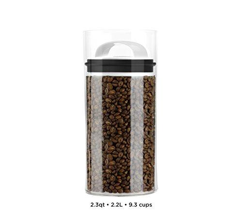 Evak Best Airless Storage Canisters, Patented & Designed in USA (Medium Tall) (Marijuana Plastic Jars compare prices)
