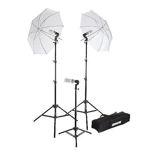Fovitec StudioPRO 675W Triple Translucent Umbrella Continuous Bright Lighting Kit for Photo Photography Film u0026 Video Studio - (Set of 3)  sc 1 st  Amazon.com & Film Lighting Equipment: Amazon.com azcodes.com