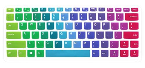 Silicone Keyboard Cover Skin for Lenovo Yoga 710 14, Yoga 710 15.6 15, Flex 4 14, ideapad 110 14, ideapad 310s 14, ideapad 510s 14 Laptop (Rainbow)