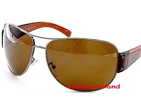 380b50586e New Authentic Prada Sport Sps 54E Polarized 5Av-5Y1 Sunglasses Brown ...