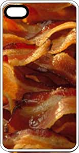 Bacon Frying To Crisp White Rubber Case for Apple iPhone 5 or iPhone 5s