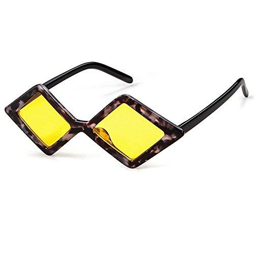 De De para Gafas Cristal Hombre Sol Transparente Polígono Gafas Diamantes Mujer De Y Sol Retro 1 WANGKEAI 2 De De Sol De Vintage 90S Shadow Gafas TUOwPqRn7x