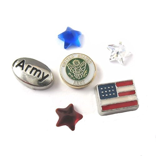 FCL Designs - Army Theme Floating Charms Combination Lockets