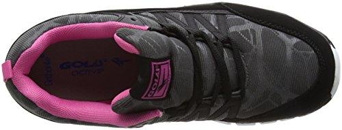 Deportivas Negro pink Mujer Para Interior Gola Zapatillas black Luna qHOZP1Y1E