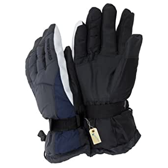 Mens Thinsulate Heavy Skiing/Snowboarding/Outdoor Sports Thermal Gloves with Palm Grip (3M 40g) (One Size) (Grey)