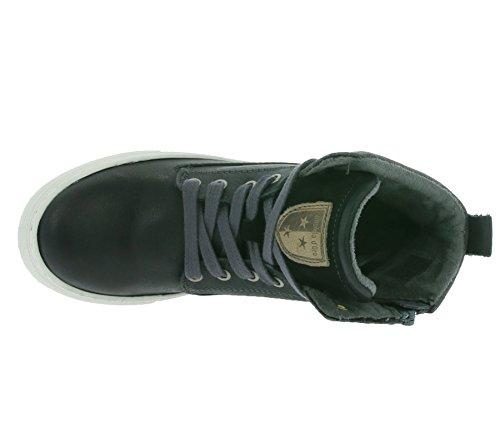 Pantofola d'Oro Edolo Ragazzi Mid bambini formatori reale pelle nera 10163019.25Y