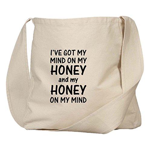 Mind On My Honey & Honey On My Mind Organic Cotton Canvas Market Bag Tote -