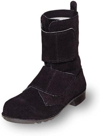 [エンゼル] 耐熱性に優れた溶接用安全靴・マジックテープブーツ 牛革製【安全靴】《004-B520》