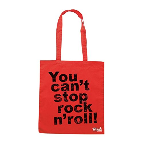 Borsa You Cant Stop Rock N Roll - Rossa - Music by Mush Dress Your Style