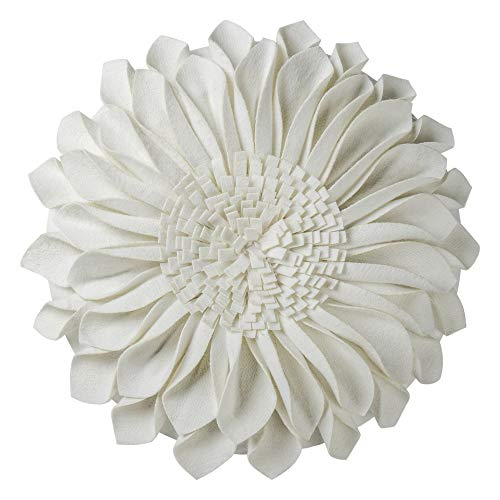 JWH 3D Sunflower Accent Pillow Decorative Cushion Handmade Home Living Bed Room Decoration