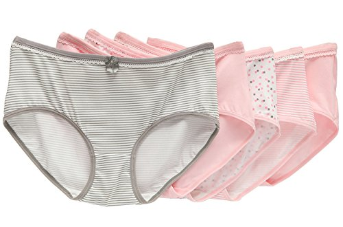 Camelia Everyday Women's 5 Pack Comfy Cute Cotton Bowknot Brief Panties (Fantasy Girl Series) - Hipster Cute Stores