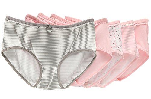 Camelia Everyday Women's 5 Pack Comfy Cute Cotton Bowknot Brief Panties (Fantasy Girl Series) (Meduim)