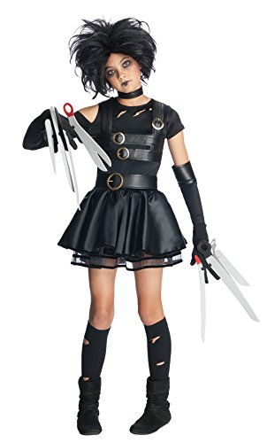 [UHC Miss Scissorhands Edward Tim Burton Fancy Dress Halloween Tween Costume, Tween M (2-4)] (Edward Scissorhands Womens Halloween Costume)