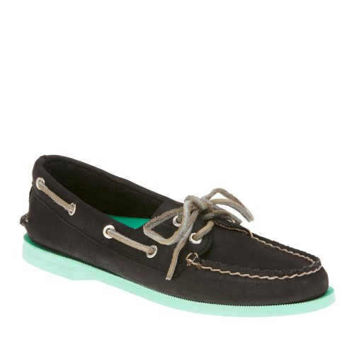 Authentic Sperry Shoe Original Boat Sider Two Women's Top Jade Eye Black wFqtF4